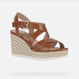 Geox Ponza Sandals Size 10 Cognac(Brown)